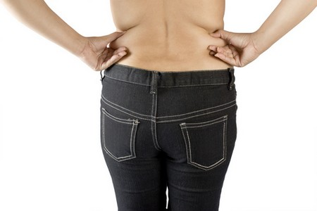 how to get rid of lower back fat and hips